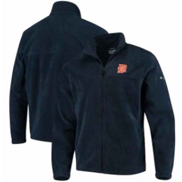 Columbia コロンビア スポーツ用品  Columbia Detroit Tigers Navy Flanker Full-Zip Jacket
