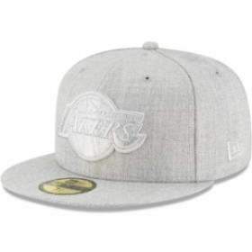 New Era ニュー エラ スポーツ用品  New Era Los Angeles Lakers Gray Twisted Frame 59FIFTY Fitted Hat