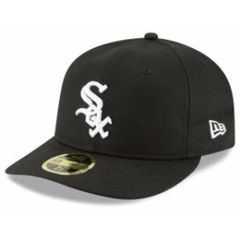 New Era ニュー エラ スポーツ用品 New Era Chicago White Sox Black Fan Retro Low Profile 59FIFTY Fitted Hat