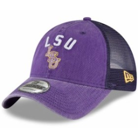 New Era ニュー エラ スポーツ用品  New Era LSU Tigers Purple Rugged Stack Trucker 9TWENTY Adjustable Snapback Hat