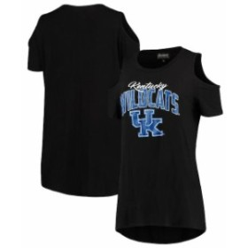 Gameday Couture ゲームデイ コーチャー スポーツ用品  Kentucky Wildcats Womens Black Gameday Cold Shoulder Flowy T