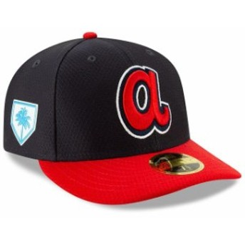 New Era ニュー エラ スポーツ用品 New Era Atlanta Braves Navy/Red 2019 Spring Training Low Profile 59FIFTY Fitted Hat