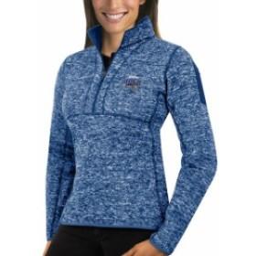 Antigua アンティグア スポーツ用品  Antigua Orlando Magic Womens Heather Royal Fortune Half-Zip Pullover Jacket