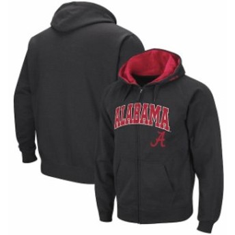 Colosseum コロセウム スポーツ用品 Colosseum Alabama Crimson Tide Charcoal Arch & Logo Full-Zip Hoodie