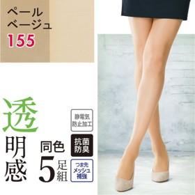 【レディース】 パンティストッキング・5足組 - セシール ■カラー:ペールベージュ ■サイズ:M-L,L-LL,S-M,TL