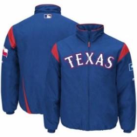 Majestic マジェスティック アウターウェア ジャケット/アウター Majestic Texas Rangers Royal On-Field Therm