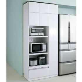 家電も食器もたっぷり収納!天井ぴったりキッチンシリーズ マルチボード 幅90cm奥行45cmホワイト
