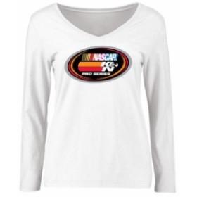 Fanatics Branded ファナティクス ブランド スポーツ用品  NASCAR Womens White K&N Pro Series Logo Long Sleeve T-Sh