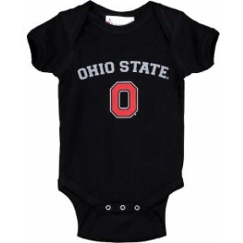 Two Feet Ahead トゥー フィート アヘッド スポーツ用品 Ohio State Buckeyes Infant Black Arch & Logo Bodysuit