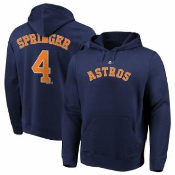 Majestic マジェスティック スポーツ用品 Majestic George Springer Houston Astros Navy Authentic Name & Number Pullo