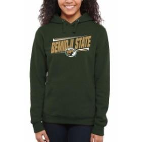 Fanatics Branded ファナティクス ブランド スポーツ用品  Bemidji State Beavers Womens Green Double Bar Pullover H