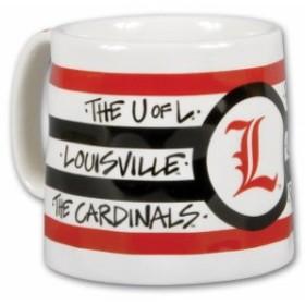 Magnolia Lane マグノリア レーン スポーツ用品  Louisville Cardinals 16oz Team Logo Striped Artwork Mug