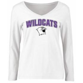 Fanatics Branded ファナティクス ブランド スポーツ用品  Northwestern Wildcats Womens White Proud Mascot Long Sle