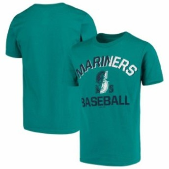 Outerstuff アウタースタッフ スポーツ用品 Seattle Mariners Youth Teal Team Trainer T-Shirt