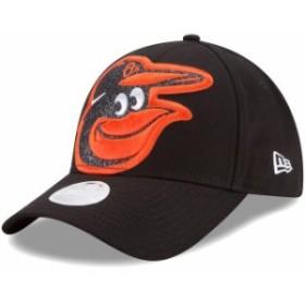 New Era ニュー エラ スポーツ用品  New Era Baltimore Orioles Womens Black Glitter Glam Team 9FORTY Adjustable Hat