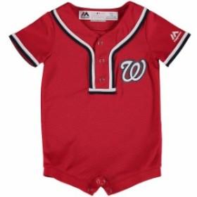 Majestic マジェスティック スポーツ用品  Majestic Washington Nationals Newborn & Infant Red Fashion Cool Base Rompe