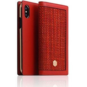 SLG Design SD10550I8 iPhone XS/X用 手帳型 CALF SKIN LEATHER(レッド)[SD10550I8]【返品種別A】