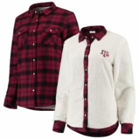 Spirit Jersey スピリット ジャージ シャツ Tシャツ Texas A&M Aggies Womens Maroon/Cream Reversible Sherpa Flannel L