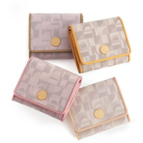 ELLE/エル トレフル 三つ折財布ピンク