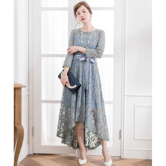 ドレス スター フィッシュテール総レースワンピースドレス レディース ブルー XLサイズ 【DRESS STAR】