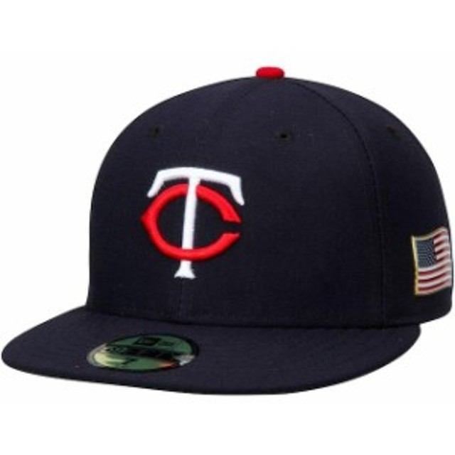 New Era ニュー エラ スポーツ用品  New Era Minnesota Twins Navy Authentic Collection On-Field 59FIFTY Flex Hat with 9/