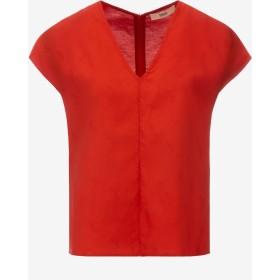 Sleeveless Nastro Jacquard Shirt レッド