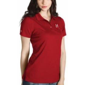 Antigua アンティグア スポーツ用品  Antigua Harvard Crimson Womens Crimson Desert Dry Inspire Polo