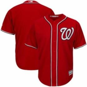Majestic マジェスティック スポーツ用品  Majestic Washington Nationals Red Big & Tall Cool Base Team Jersey