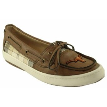Renaissance ルネサンス スポーツ用品 Texas Longhorns Womens Brown Westend One Eye Moccasins