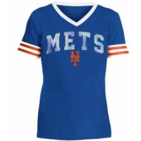 New Era ニュー エラ スポーツ用品  New Era New York Mets Girls Youth Royal Baby Jersey V-Neck T-Shirt