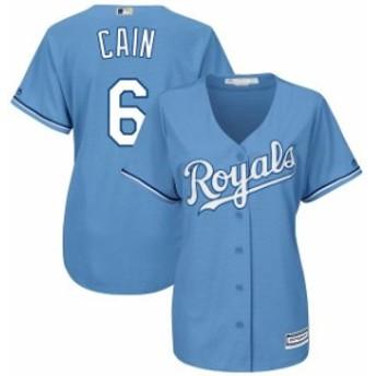 Majestic マジェスティック スポーツ用品 Majestic Lorenzo Cain Kansas City Royals Womens Light Blue Alternate Cool