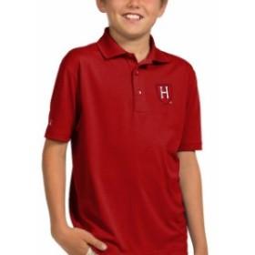 Antigua アンティグア スポーツ用品  Antigua Harvard Crimson Youth Crimson Pique Desert Dry Xtra-Lite Polo