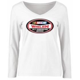 Fanatics Branded ファナティクス ブランド スポーツ用品  NASCAR Womens White Whelen All-American Series Logo Long