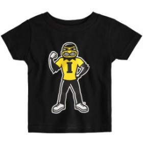 Two Feet Ahead トゥー フィート アヘッド スポーツ用品  Iowa Hawkeyes Infant Black Big Logo T-Shirt