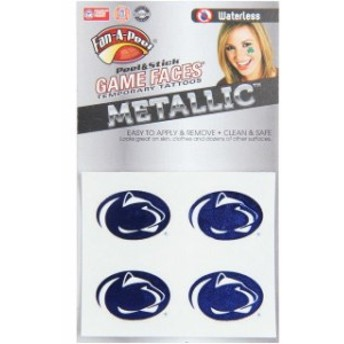 Innovative Adhesives イノベーティブ アディーシブ スポーツ用品 Penn State Nittany Lions Game Faces Metallic T