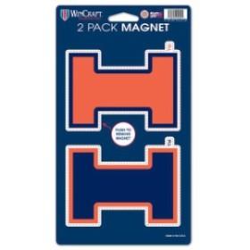 WinCraft ウィンクラフト スポーツ用品  WinCraft Illinois Fighting Illini 5 x 9 2-Pack Magnet Set