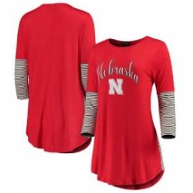 Gameday Couture ゲームデイ コーチャー スポーツ用品  Nebraska Cornhuskers Womens Red Striking in Stripes Tunic Tr