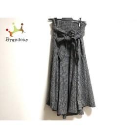 ミラオーウェン Mila Owen スカート サイズ0 XS レディース 美品 ライトグレー×黒 新着 20190518