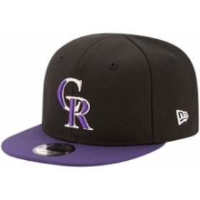New Era ニュー エラ スポーツ用品  New Era Colorado Rockies Infant Black/Purple My First 9FIFTY Adjustable Hat