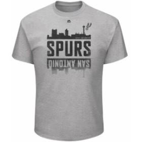 Majestic マジェスティック スポーツ用品  Majestic San Antonio Spurs Heathered Gray Capacity Crowd Triple Peak T-Shi