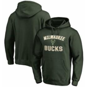 Fanatics Branded ファナティクス ブランド スポーツ用品  Milwaukee Bucks Green Big & Tall Victory Arch Pullover H
