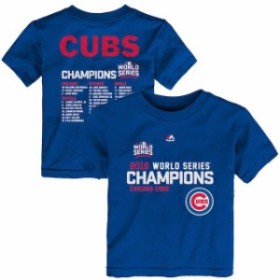 Majestic マジェスティック スポーツ用品  Majestic Chicago Cubs Toddler Royal 2016 World Series Champions Sweet Line