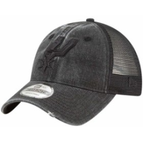 New Era ニュー エラ スポーツ用品  New Era San Antonio Spurs Black Tonal Washed Trucker 9TWENTY Adjustable Snapback Ha