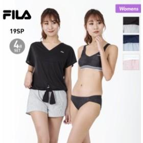 FILA/フィラ レディース 水着 4点セット 228-705 ブラトップ ビキニ Tシャツ ショートパンツ みずぎ スイムウェア 女性用 10%OFF