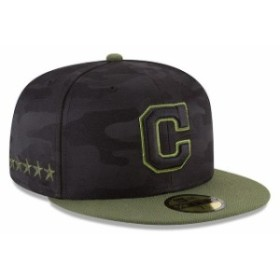 New Era ニュー エラ スポーツ用品  New Era Cleveland Indians Black 2018 Memorial Day On-Field 59FIFTY Fitted Hat