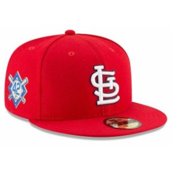 New Era ニュー エラ 服 New Era St. Louis Cardinals Red 2018 Jackie Robinson Day 59FIFTY Fitted Hat
