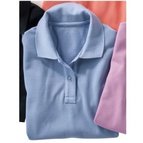 【レディース】 UVカットポロシャツ(半袖)(S-5L) - セシール ■カラー:サックス ■サイズ:3L,LL,4L-5L,L,M,S