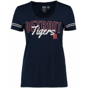 Concepts Sport コンセプト スポーツ スポーツ用品  Concepts Sport Detroit Tigers Womens Navy Tradition Short Sleeve