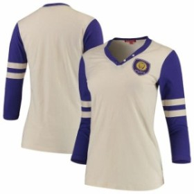 Mitchell & Ness ミッチェル アンド ネス スポーツ用品  Mitchell & Ness Orlando City SC Womens Tan Shoot Out V-Neck