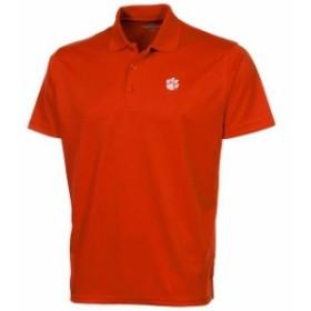 Vantage Apparel バンテージ アパレル スポーツ用品  Clemson Tigers Omega Solid Mesh Tech Performance Polo - Orange